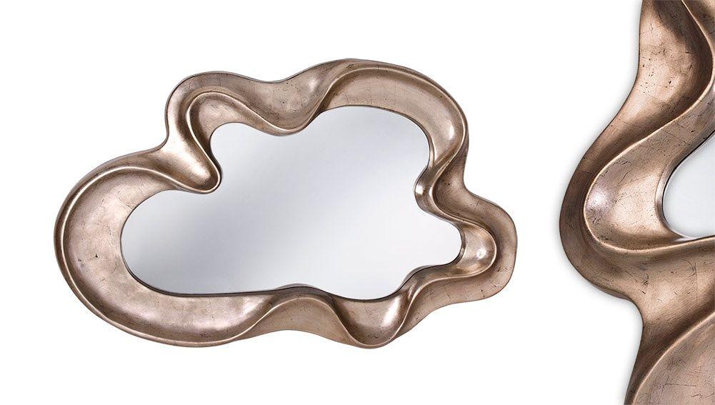 Espelho com moldura decorada silver
